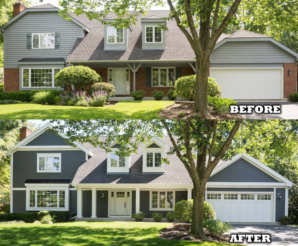 Key words to bolster a real estate listing for Before and after home exteriors remodels
